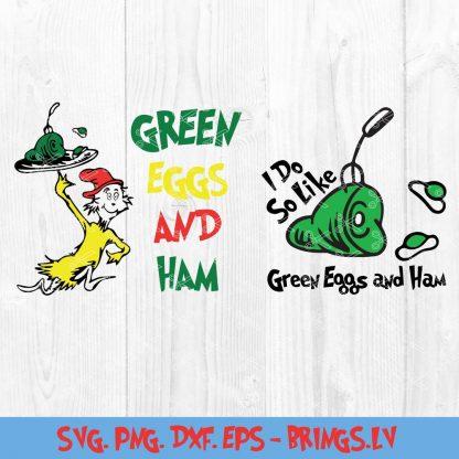 GREEN EGGS AND HAM DR SEUSS SVG