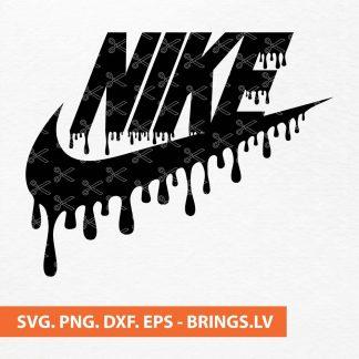 Nike Logo Drip SVG