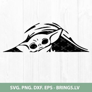 Peeking Baby Yoda SVG