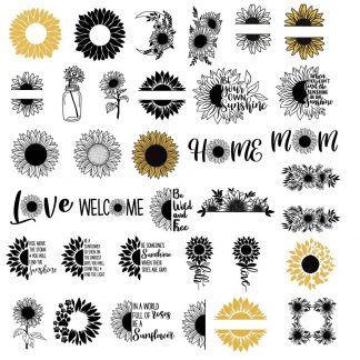 Huge Sunflower SVG Bundle