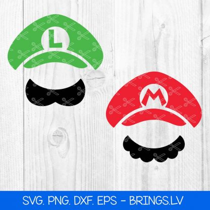 SUPER MARIO HAT SVG