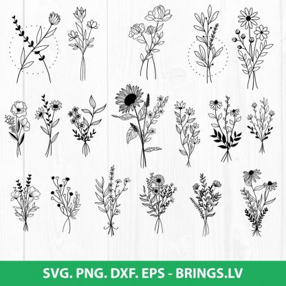 Wildflowers SVG