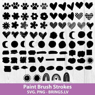 Paint Brush Strokes Svg