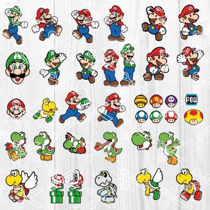 Super Mario bundle svg