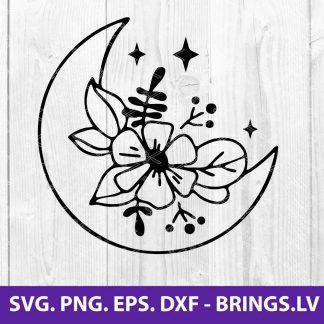 FLOWER MOON SVG