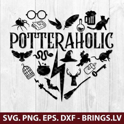 HARRY POTTER POTTERAHOLIC SVG