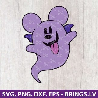 Mickey Mouse Boo Ghost Halloween SVG