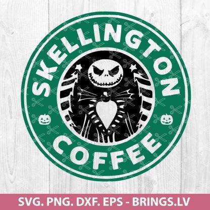SKELLINGTON COFFEE NIGHTMARE BEFORE CHRISTMAS STARBUCKS DISNEY SVG