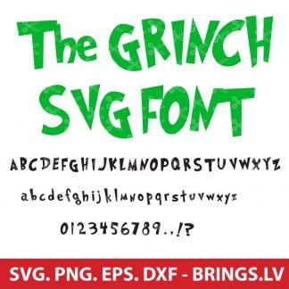 GRINCH SVG FONTCUT FILES